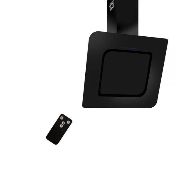 Hota decorativa neagra cu telecomanda silentioasa si puternica Kugerr D8
