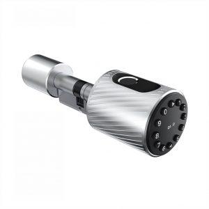Yala inteligenta amprenta cod card bluetooth euro cilindru argintiu C10
